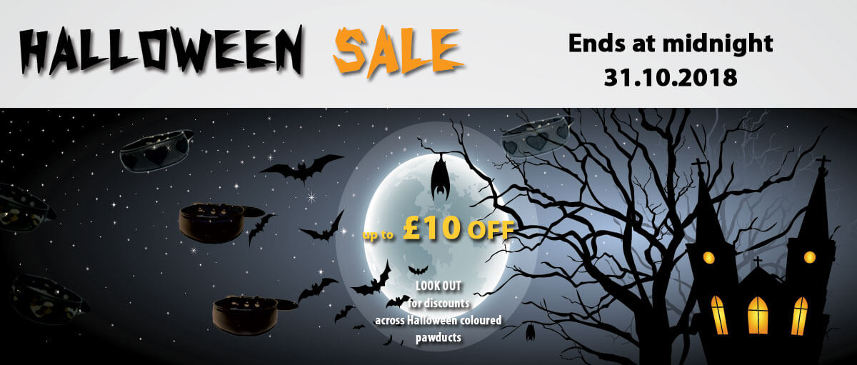 Halloween Sale at Dog Moda - Soft padded hound collars, leather dog leads & dog accessories designed with style for whippets, lurchers, afghans, greyhounds & other sighthounds