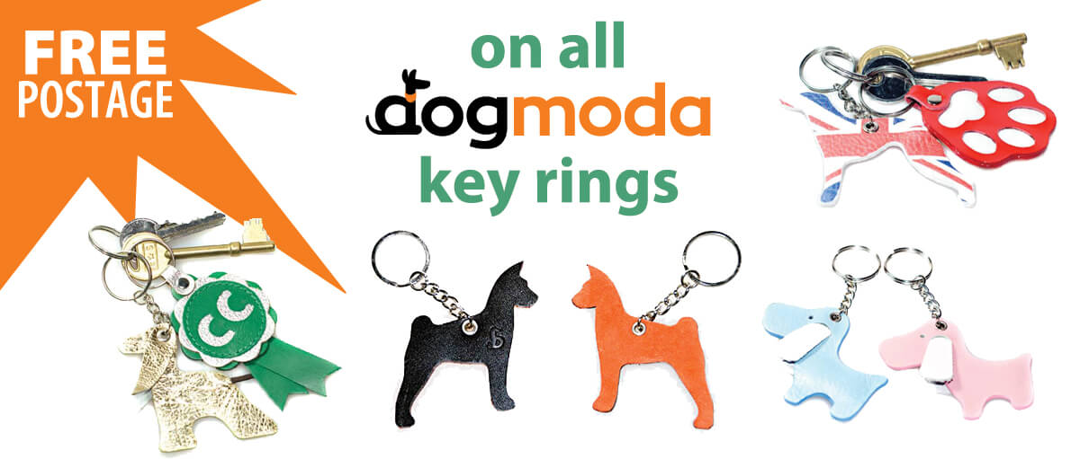 Free delivery from Dog Moda on all keyrings and on UK orders over £70