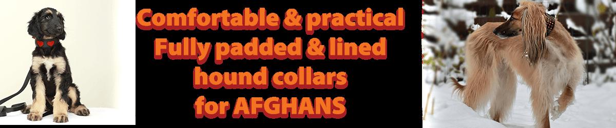 Afghan hound collars from Dog Moda