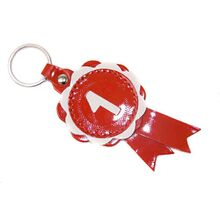 Red winner show rosette key ring / charm