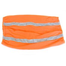 Stretch cotton snood with reflective tape for night time safety in darker months