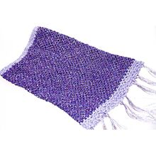 Purple crochet snood with tassels