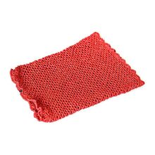 Red metallic crochet snood