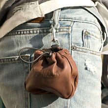 Dog treat bag clipped to your jeans