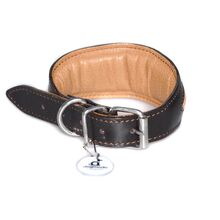 Brown rhombi whippet collarcollar