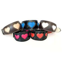 Hearts hound collars collection in XS for Italian Greyhound, puppies and smaller hounds
