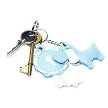 Blue dog leather key ring from Dog Moda