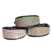 Bespoke tweed whippet collars to custom made for tweed dog coat manufacturer
