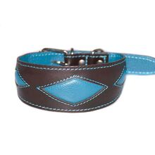 Turquoise rhombi sighthound collar