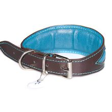 Full leather lning and soft padding on all Dog Moda whippet collars