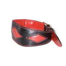 Red rhombi whippet collar