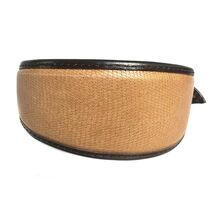 Brown lizard snake leather hound collar
