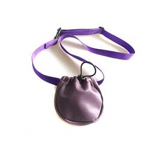 Purple training treats bag with belt
