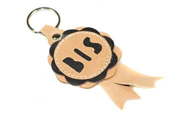 Best in Show rosette key ring / key chain