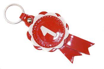 Red winner show rosette key ring / charm