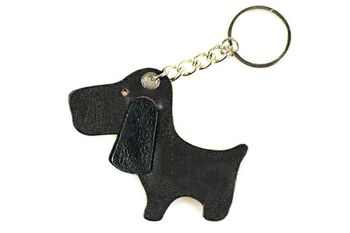 Dark brown cute dog key ring / bag charm