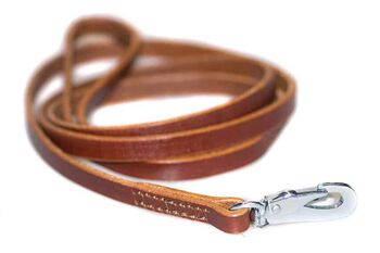 Honey brown leather dog leash 1.5m