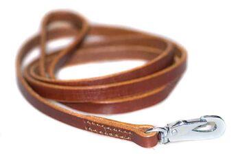 Honey brown leather dog leash 1.5m
