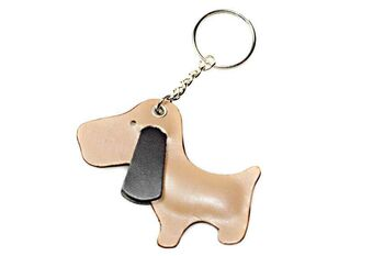 Cute golden dog key ring / bag charm