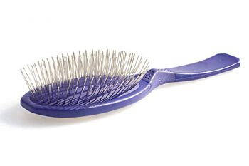 Soft Madan pin brush in Purple from Dog Moda UK. MPB-M05