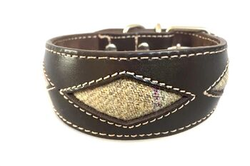 Sand dunes tweed whippet collar