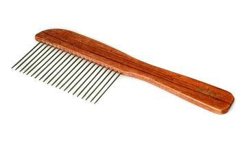 Rosewood poodle comb