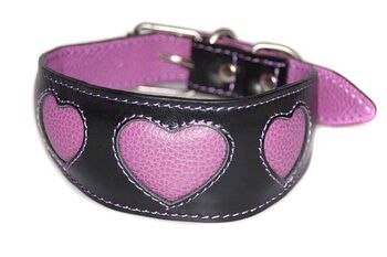 Lilac hearts sighthound collar