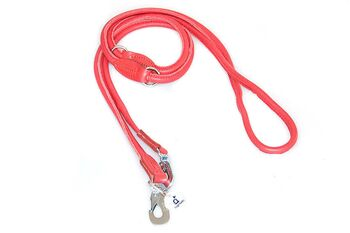 Premium adjustable dog lead from rolled leather