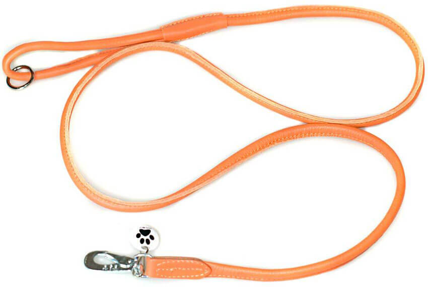Leather dog lead size guide from Dog Moda