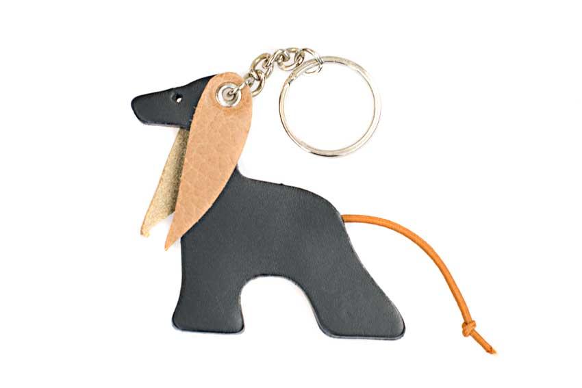 Black & tan Afghan hound key ring