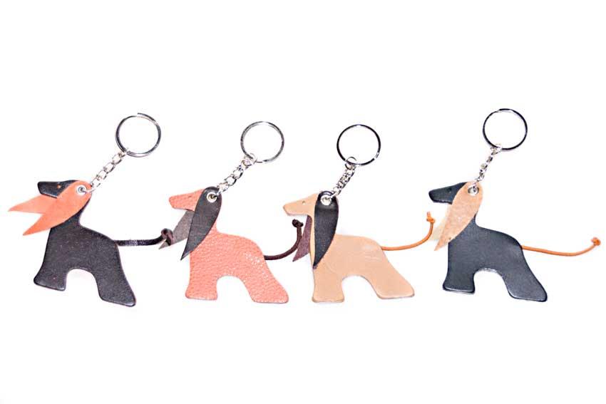 Afghan hound keyrings