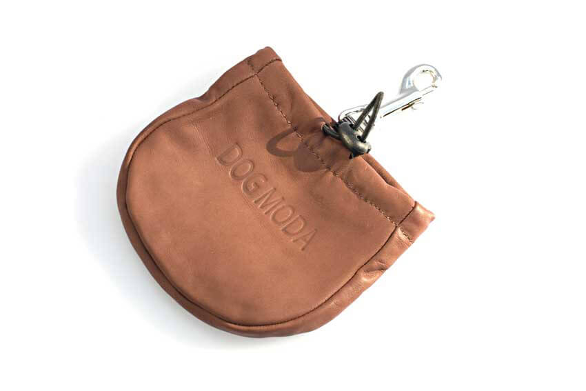 Dog treat bag in brown