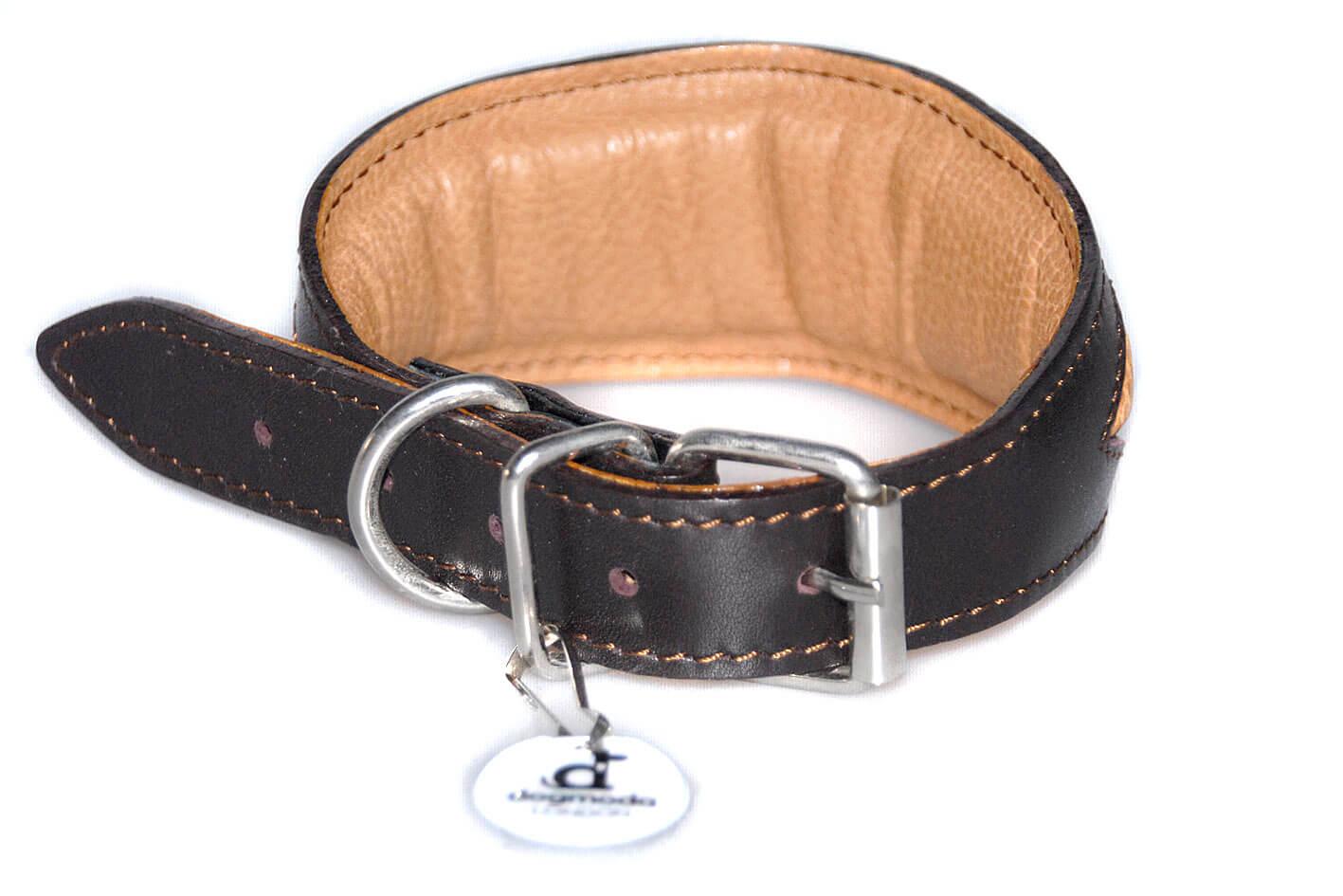Brown rhombi whippet collarcollar