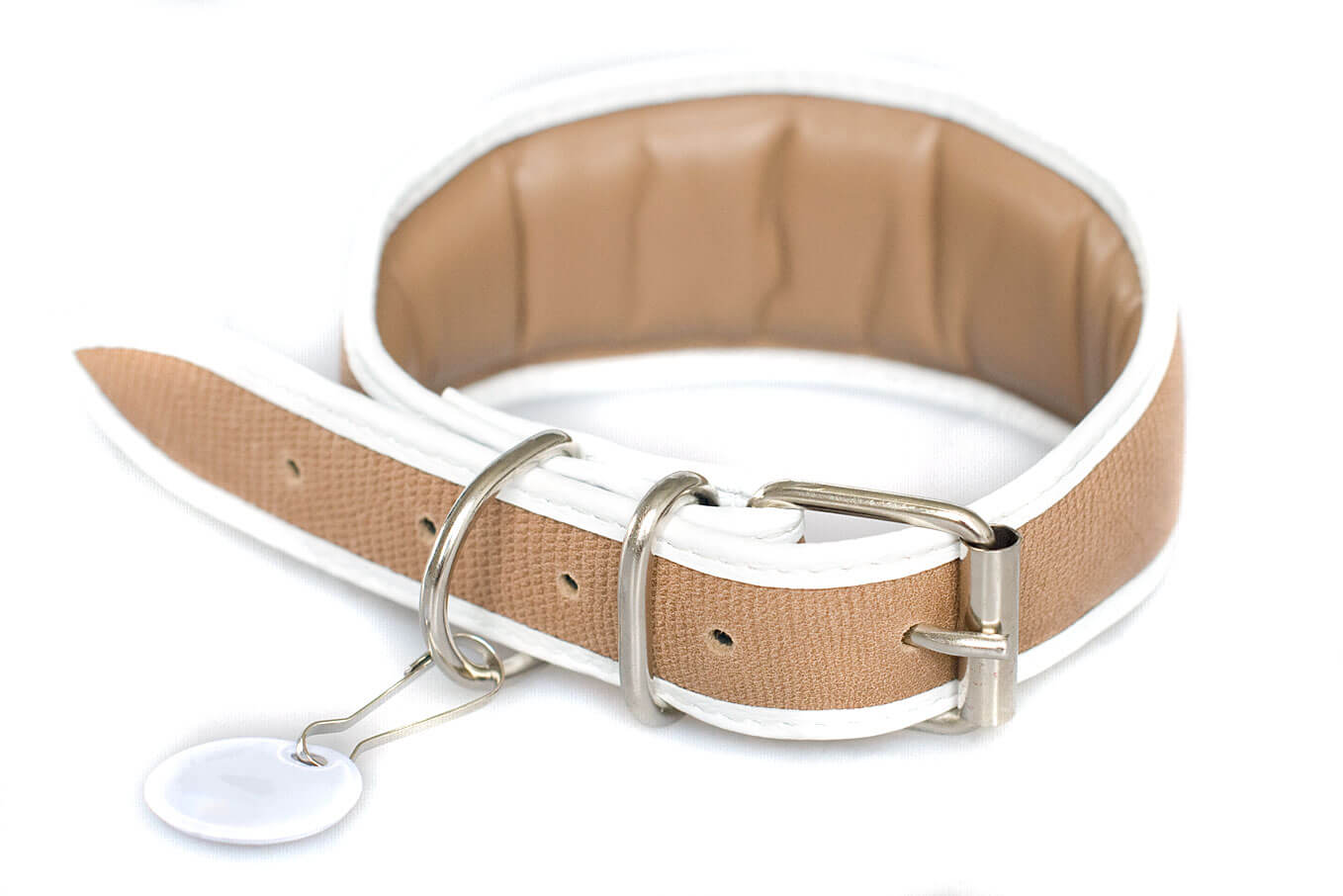 Beige snake collar - fully lined and padded