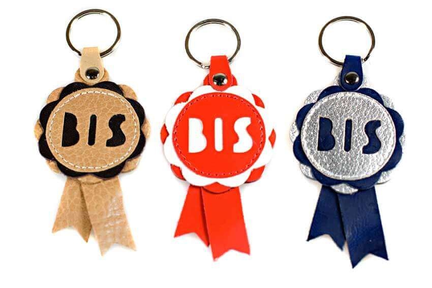 BIS rosette key rings colour range