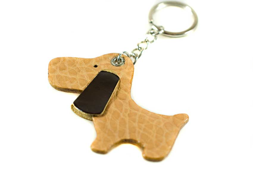 Dog Moda key rings are made from luxurious full grain leather