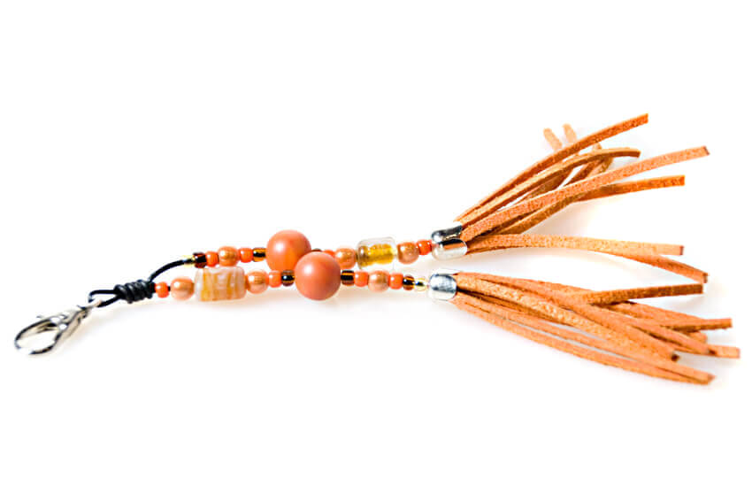 Orange matching tassel for your hound collar