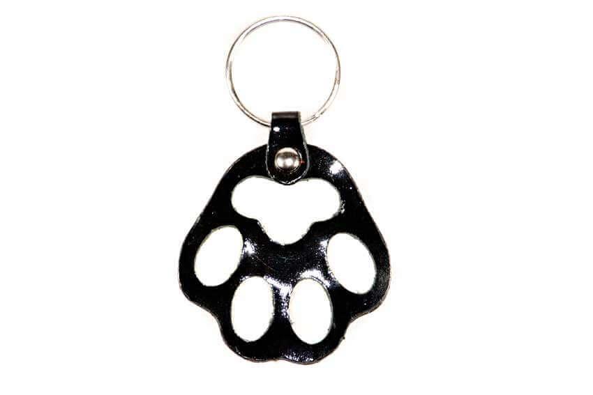 Black dog paw key ring / charm