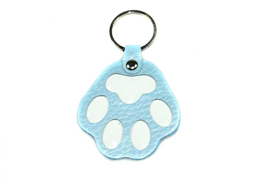 Blue dog paw key ring / charm