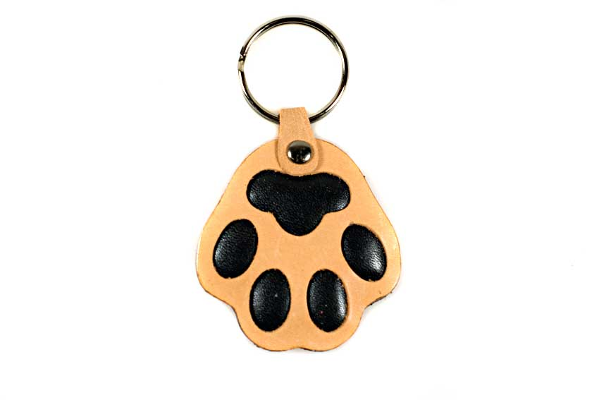 Brown dog paw key ring / charm