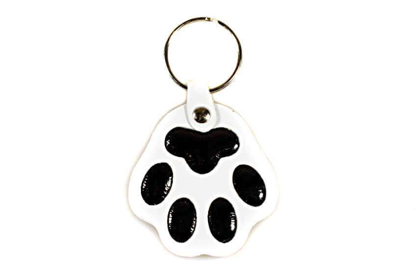 White dog paw key ring / charm