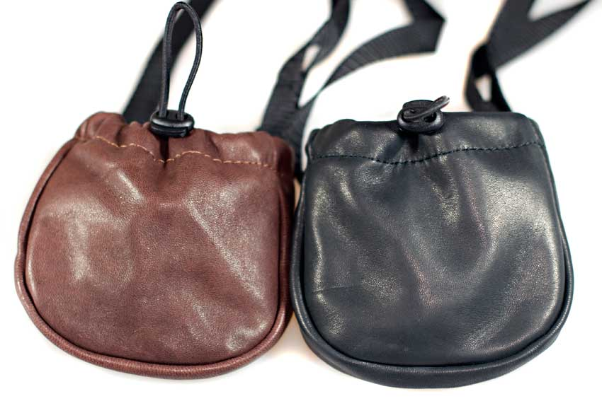 Dog Moda treat bags with adjustable belt are available in black and brown