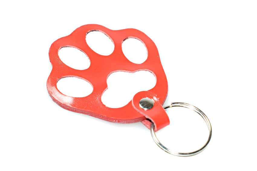 Red dog paw key ring / charm