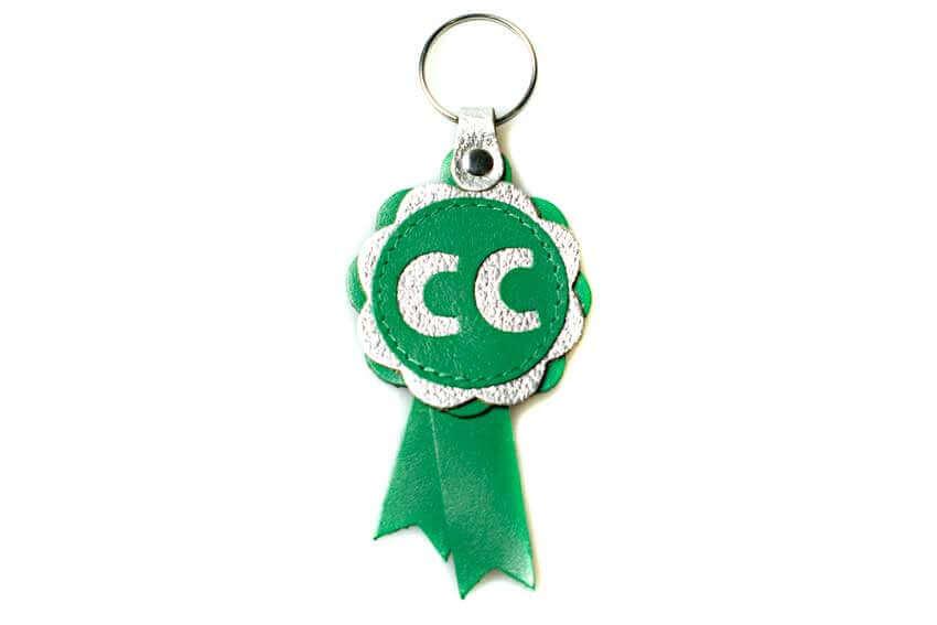 CC winner leather key fob