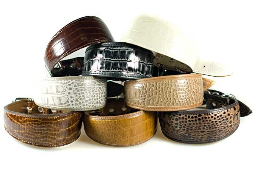 Safari range of leather whippet collars