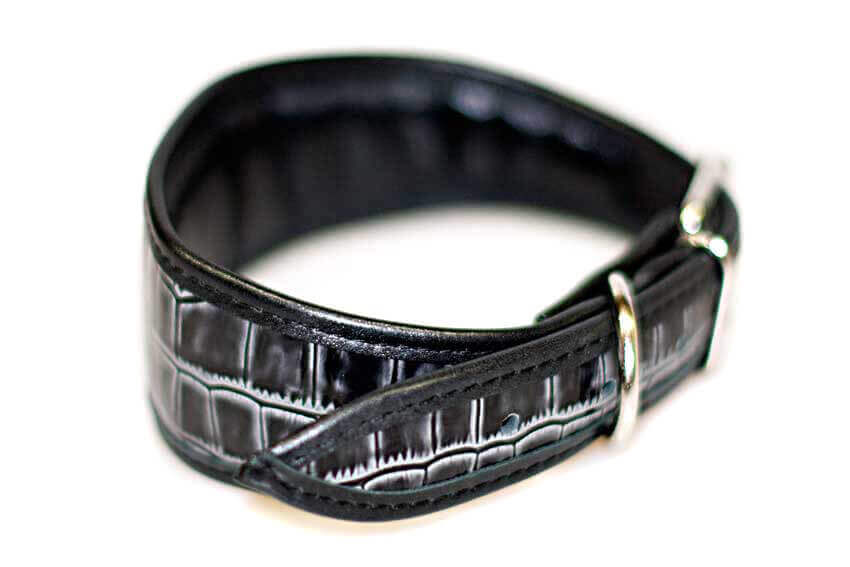 Grey wolf hound collar - fully lined and padded