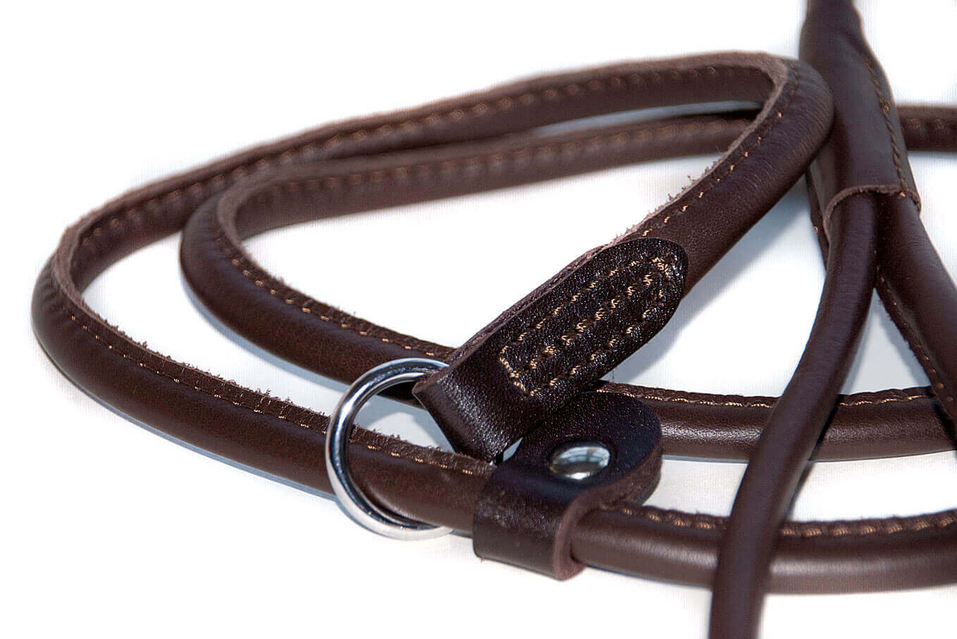 Leather stopper to fit slip lead correctly over your dog