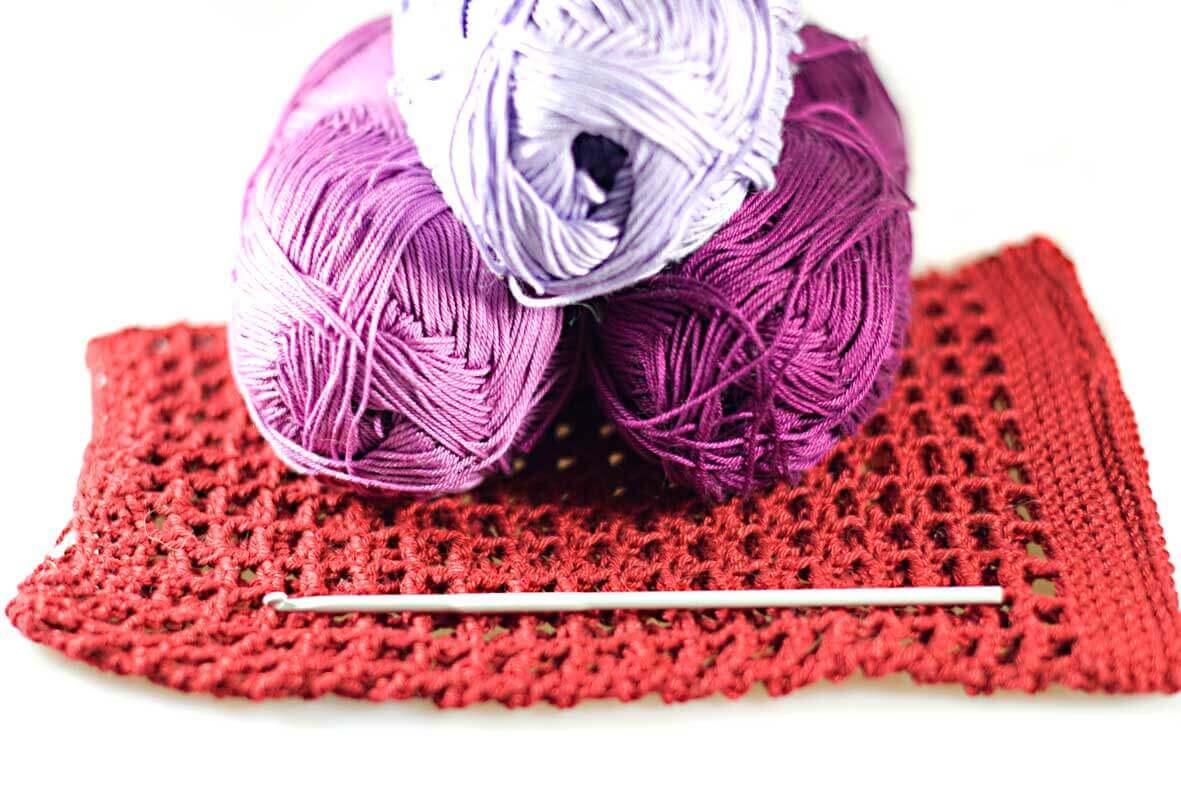 Handmade crochet dog snoods from Dog Moda