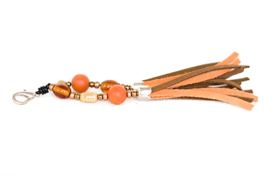 Orange collar tassel to match