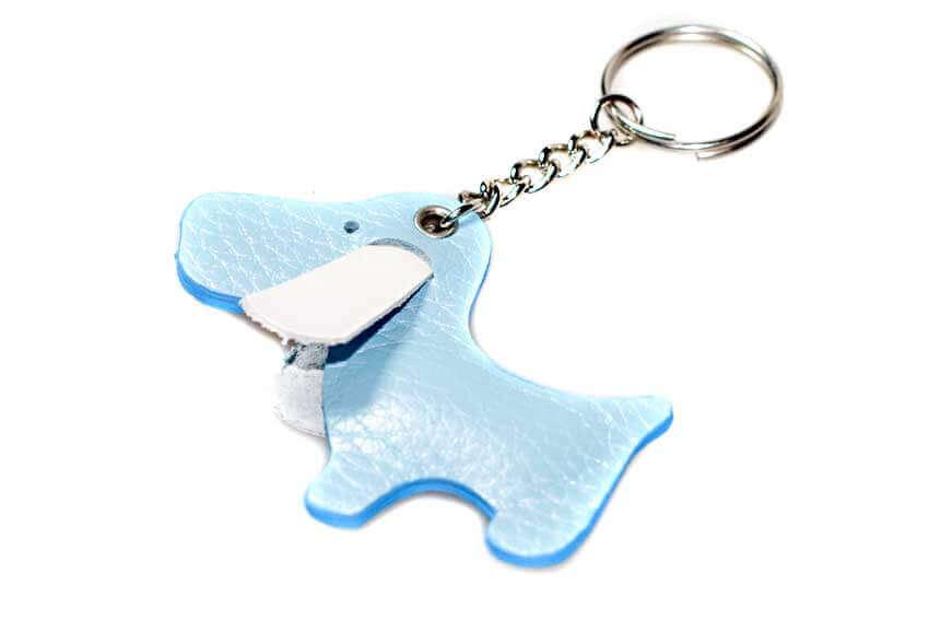 Dog Moda leather dog key ring